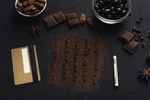 Addiction Of Chocolate Conceptual Background