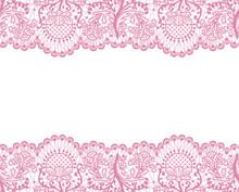 Seamless Pink Lace