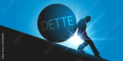 Photo dette - crédit - emprunt - prêt - endettement - banque - immobilier - rembourser