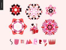 Summer Kaleidoscopic Patterns ...