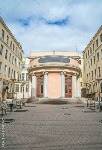 Deurstickers Theater The famous closed square courtyard in Saint Petersburg, Russia.