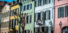 Rainbow Row Street In Charlest...