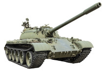 T-55 Russian Tank Isolated On ...