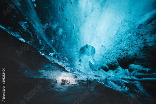 Fotografie, Tablou Iceland Vatnajokull Ice cave