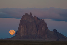 Moonrise At Shiprock