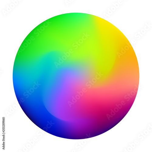 Valokuvatapetti Unique gradient mesh orb with mixed colors