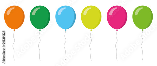 Fotografie, Obraz colorful balloons collection. Flat style. Vector illustation