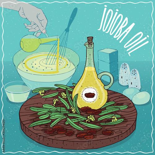Fotografie, Obraz  Jojoba oil used for cooking