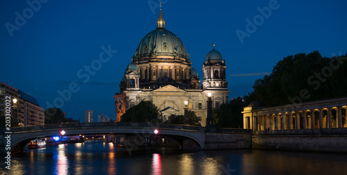 Poster Berlin Cathedral , Berliner Dom at night, Berlin ,Germany
