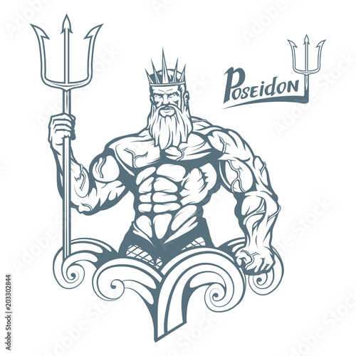 Poseidon Wallpaper Mural
