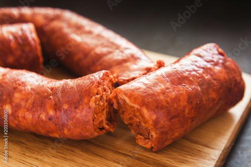 Fotografie, Obraz  longaniza mexicana, traditional pork sausage in mexico, mexican food