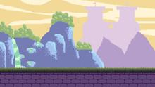 Medieval Ruins Pixel Art