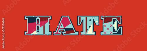 Vászonkép Hate Concept Word Art Illustration