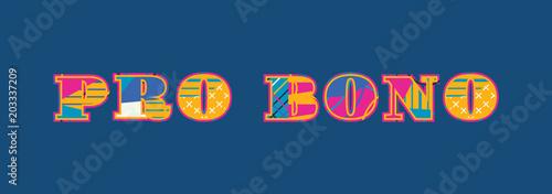 Pro Bono Concept Word Art Illustration Canvas Print
