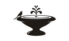 Bird And Fountain Garden Decor...