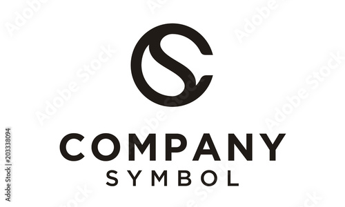 Fotografie, Obraz  Initial/Monogram CS SC logo design