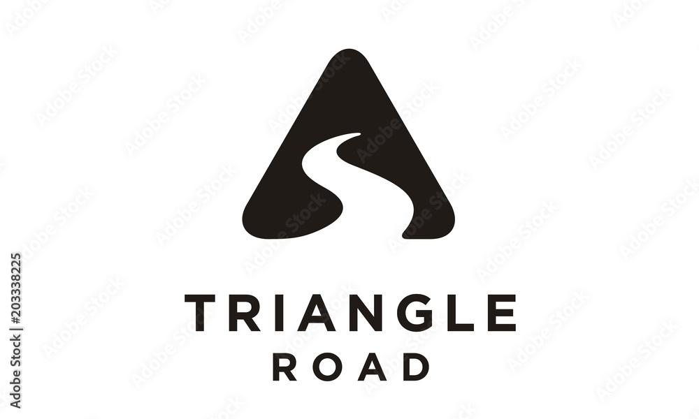 Fototapeta Triangle Street Road River Creek symbol logo design