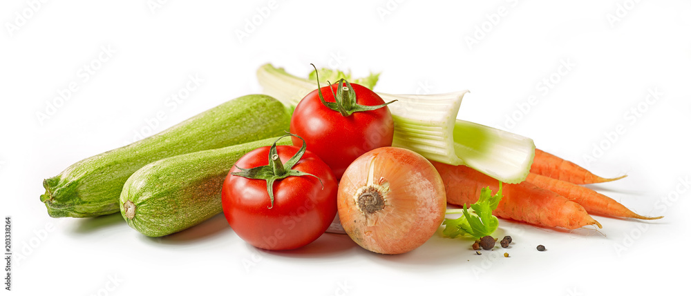various fresh vegetables