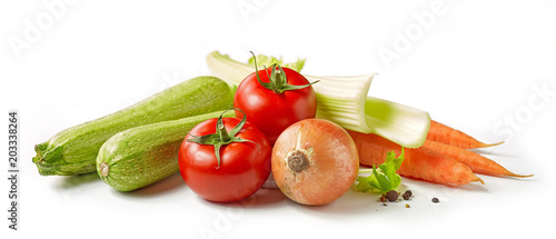 Printed kitchen splashbacks Vegetables various fresh vegetables
