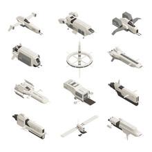 Space Ship Isometric Set