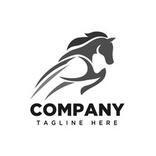 Elegant Jumping Horse Logo