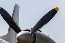 Close Up Of Airplane Turboprop...