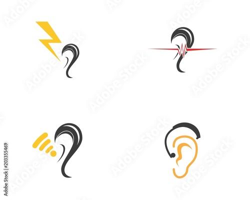 Hear icon logo design vector illustration Tapéta, Fotótapéta