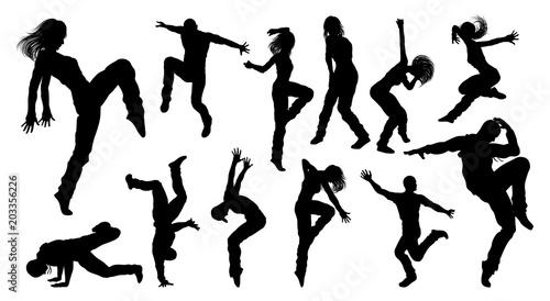 Fototapeta Street Dance Dancer Silhouettes