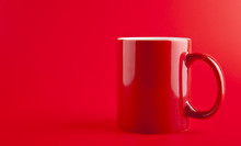 Red Cup On Red Background