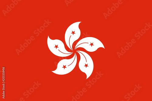 The Flag of Hong Kong Tableau sur Toile