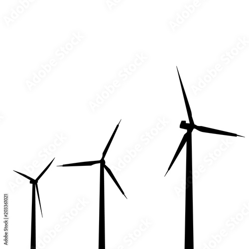 isolated windmill silhouette buy this stock vector and explore