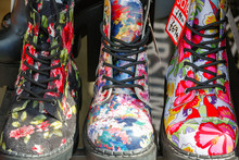 Floral Boots On Display At Cam...