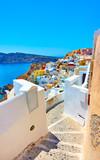 Fototapeta Na drzwi - Streets in Oia in Santorini