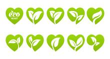 Icon Set. Eco Heart