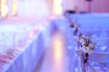 Beautiful Photo Of The Jewish Hupa , Wedding Putdoor .bouquets Of Flowers.