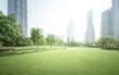 canvas print picture - park in lujiazui financial center, Shanghai, China