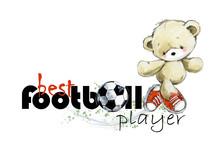 Cute Teddy Bear Soccer Player ...