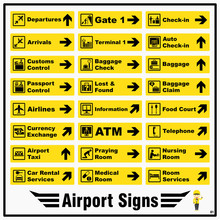 Set Of Airport Markings And Si...