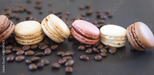 Foto op Canvas Macarons macarons café