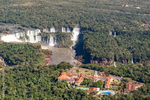 Printed kitchen splashbacks Khaki Falls of Iguazu