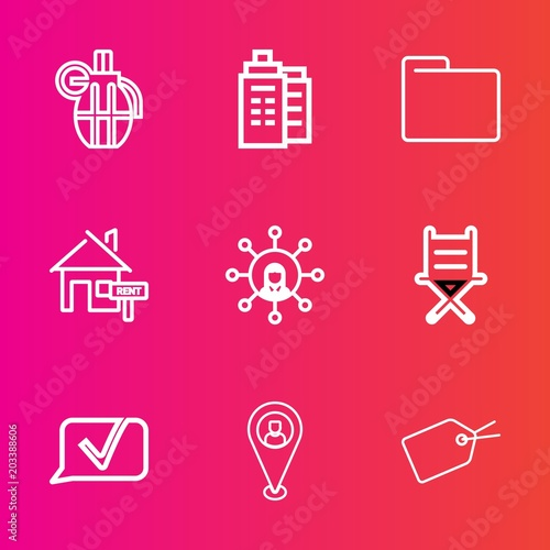 Premium set with outline vector icons  Such as dangerous