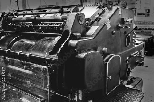 Fototapeta Printer lithography cylinder machine printing
