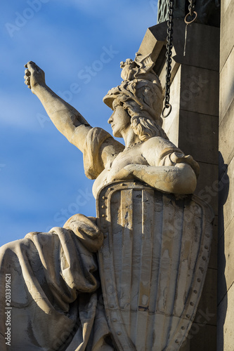 Papiers peints Artistique Elements of the monument to Columbus in Barcelona in Spain
