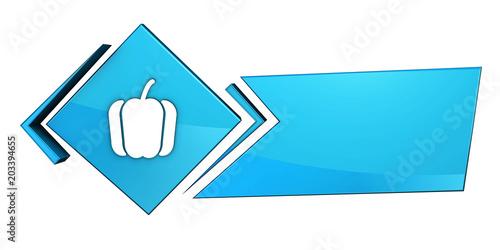 Fototapeta Niebieski baner 3D obraz