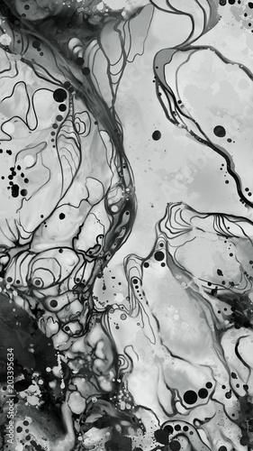 grunge czarno-biały obraz abstrakcyjnych wzorów