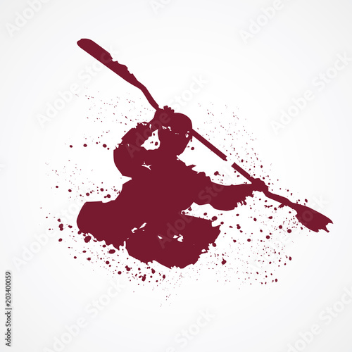 Fotografie, Obraz  Kayak-Tâches rouges