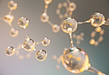 Abstract Gold And Orange Molecule Background,3d Rendering.