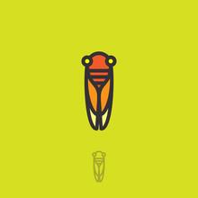 Cicada Flat Logo. Cicada Icon....