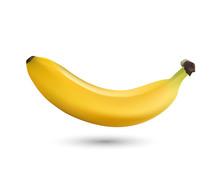 Bananas Isolated On White Back...