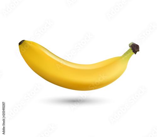 Fotografie, Obraz bananas isolated on white background, banana icon